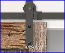 10FT Biparting Double Straight Roller Steel Sliding Barn Door Hardware Track Kit