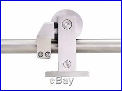 10FT Modern Stainless Steel Double Sliding Barn Wood Door Hardware Closet Set