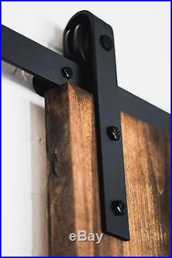 10-16FT Double Antique Rustic Sliding Track Wood Barn Door Closet Hardware Kit