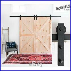 - 10ft Heavy Duty Double Sliding Barn Door Hardware Kit 100% Steel Ultra Smooth