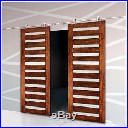 10ft double sliding barn door hardware stainless steel barn track for drywall