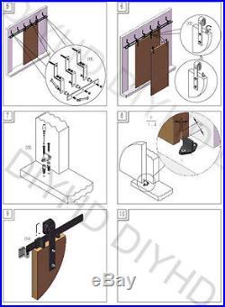 10ft rustic black bypass sliding barn door hardware to hang 4 bypass doors