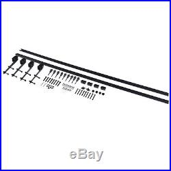 12Ft Steel Sliding Barn Wood Door Hardware Track Kit Black for Thickness 40-45mm
