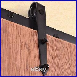 12Ft Steel Sliding Barn Wood Door Hardware Track Kit for Thickness 40-45mm Home