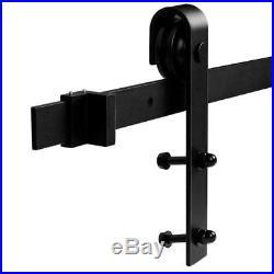 12 FT Heavy Duty Sliding Barn Door Hardware for Wide Opening and Two Single Door