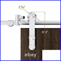 12 FT Stainless Steel Double Sliding Barn Door Hardware 12FT-Double Door Kit