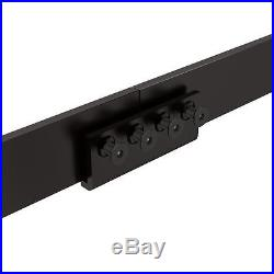 12ft Black American Horseshoe Barn Wood Double Sliding Door Hardware Track Set