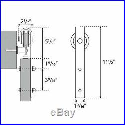 13 Feet Double Gate Heavy Duty Sliding Barn Door Hardware Kit (Frosted Black)