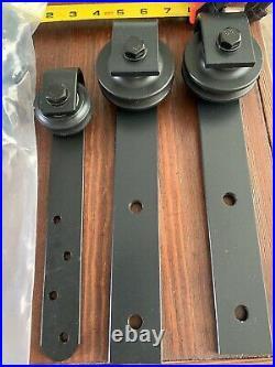 14 QTY! -BULK MIX LOT- Steel Sliding Barn Door Rollers Closet Hardware -FREE HDW