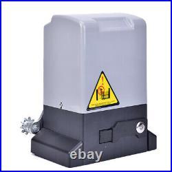 1800lb/3500lbs Automatic Sliding Gate Opener Hardware Driveway Door Operator Kit