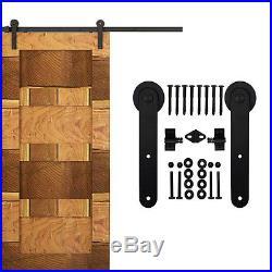 183-488cm Rustic Sliding Barn wood Door Hardware kit Closet Heavy Duty Sturdy