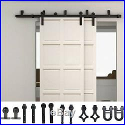 1.5M 2M 3M 4M 5M Bypass Sliding Barn Door Hardware Kit New Style Bracket Track