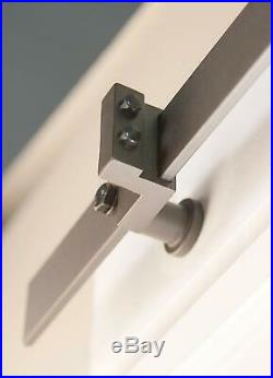 1-5.5M Modern Stainless Steel Sliding Barn Door Hardware Track Interior Sturdy