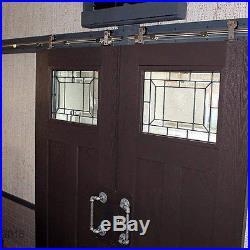 1.5-5m Stainless Steel Sliding Barn Door Hardware Kit Interior Office Room Patio