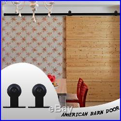 20 FT Rollers Track for Sliding Wood Barn Door Hardware Kit for Door Closet Set