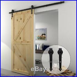 2.5FT-10FT Sliding Barn Door Hardware Closet Track Kit For Single/Double Door