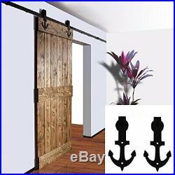 2.5FT-9.9FT Sliding Barn Door Hardware Closet Track Kit For Single/Double Door