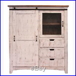 2.5-10FT Vintage Super Mini Sliding Barn Door Hardware Kit Cabinet TV Stand New