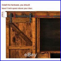 2.5-8 FT Sliding Door Hardware Super Mini Barn Kit J Shape Hanger Flat Track For