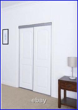 2 Panel Sliding Door Interior Closet Windows 59 x 80 in. Bright White Arched Top