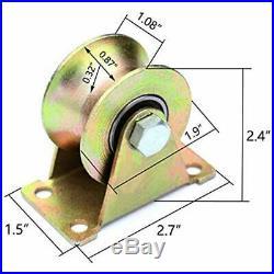 2 Pcs Sliding Door Hardware 2 U-Groove Track Wheel, Roller, For Doors And Carts