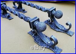 2pcs Iron Door pull, Barn door pull, Steel pull handle, Slide door pullWroug