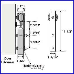 36 x 80 Sliding Barn Door with Hardware Lucia 2661 White Silk 6.6FT Rail