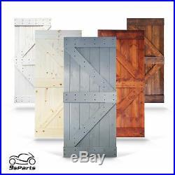 36 x 84 K Style Barn Wood Door DIY Solid Interior Sliding Door with hardware Kit