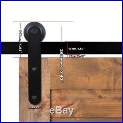 3-20FT Heavy Duty Sliding Barn Wood Door Hardware Track Kit, Single/Double Bypass