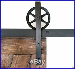 410FT Big Strap Spoke Wheel Sliding Wood Barn Single Door Hardware Closet Kit