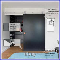 420ft Stainless Steel Sliding Barn Door Hardware Track Kit for Single/Double