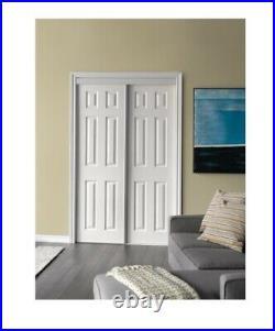 48 x 80 6-Panel White Bypass Door