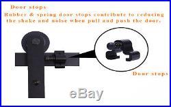 4FT-16FT Rustic Bypass Double Sliding Barn Wood Door Hardware Closet Rail Kit