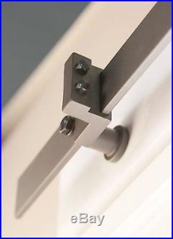4FT-18FT Stainless Steel Modern Bypass Sliding Barn Door Hardware Heavy 4 Doors
