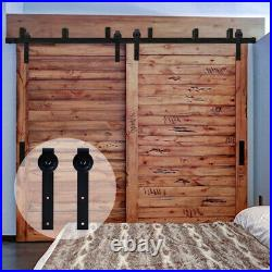 4FT 20FT Rustic Sliding Barn Door Hardware Track Kit for Single/Double/Bypass