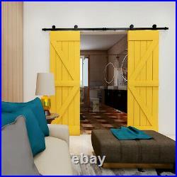 4FT-20FT Sliding Barn Door Hardware Kit For Single/Double Closet Door T style