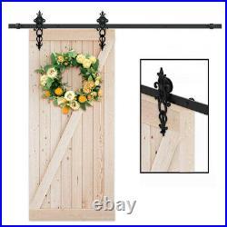4FT-20FT Sliding Barn Door Hardware Kit For Single/Double Modern Closet Door