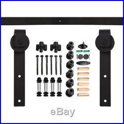 4-14FT Rustic Sliding Barn Door Hardware Closet Track Kit, Single/Double/Bypass