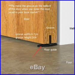 4-16FT Industrial Bent Top Mount Sliding Barn Wood Door Hardware Track Set Kit