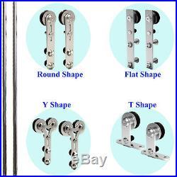 4-16FT Stainless Steel Sliding Barn Door Hardware Closet Track Kit Single/Double