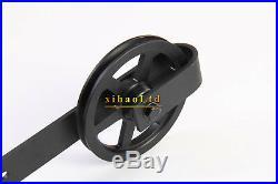4-16FT Vintage Strap Spoke Wheel Sliding Wood Barn Door Hardware Single/Double