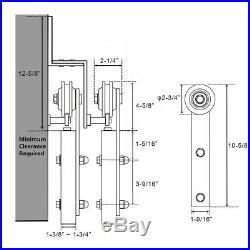 4-18FT Bypass Sliding Barn Door Hardware Track Kit Closet i Shape Z Bracket New