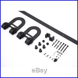 4-18FT Horseshoe Single Sliding Barn Door Hardware Kit Closet Hanger U shape