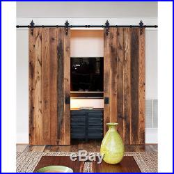 4-18FT Modern Floral Sliding Barn Doors Hardware Track kit Closet Single Double