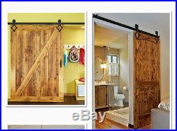4-18FT Sliding Barn Door Hardware Closet Track Kit rhombic Steel Interior Hanger