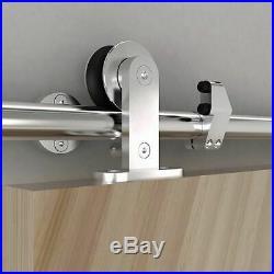4-18FT Stainless Steel Sliding Barn Door Hardware Sliding Doors Closet Tube Rail