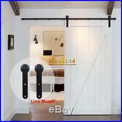 4-20FT Antique Sliding Barn Door Hardware Closet Track Kit Single/Double Door US