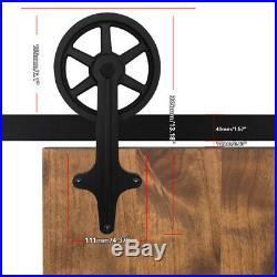 4-20FT Big Wheel Sliding Barn Door Hardware Closet Track Kit Single&Double Doors