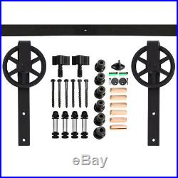 4-20FT Big Wheel Sliding Barn Door Hardware Closet Track Kit Single/Double Doors