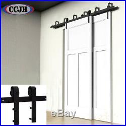 4-20FT Carbon Steel Sliding Barn Door Hardware Track Kit, Single/Double/Bypass